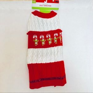 """New Adorable """"Ugly Sweater"""" Dog Xmas Sweater Med"""
